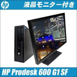 24型液晶付き中古デスクトップPC Windows10-Pro   HP Prodesk 600 G1 SF 中古パソコン   コアi7(3.40GHz)搭載 メモリ8GB HDD1000GB DVDマルチ WPSオフィス付き marblepc