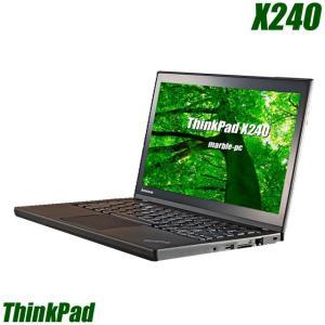 中古ノートパソコン Windows10-HOME(MAR) | Lenovo ThinkPad X240 | コアi5(1.60GHz)搭載 メモリ8GB 新品SSD360GB 無線LAN WPSオフィス付き 中古パソコン|marblepc