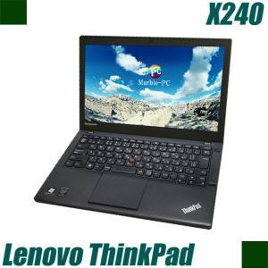 中古ノートパソコン Windows10-HOME(MAR)   Lenovo ThinkPad X240   コアi5(1.90GHz)搭載 メモリ8GB 新品SSD320GB 無線LAN付き WPSオフィス付き 中古パソコン marblepc
