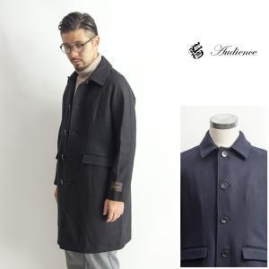 ステンカラーコート NOBILIA社製メルトン ウールコート メンズ|marcarrows