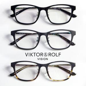 スクエアウェリントンフレーム VIKTOR&ROLF メガネ 度付き 伊達 70-0153|marcarrows