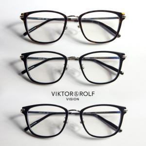 ウェリントンフレーム コンビ VIKTOR&ROLF メガネ 度付き 伊達 70-0169|marcarrows