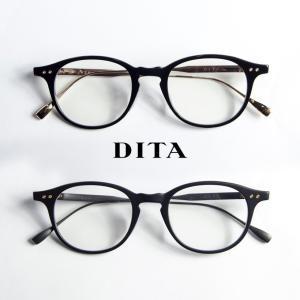 DITA ディータ ASH 49サイズ ボストンメガネ 度入り 伊達