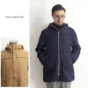 期間限定セール ダッフルミリタリーコート 紡毛ウール 日本製 メンズ marcarrows