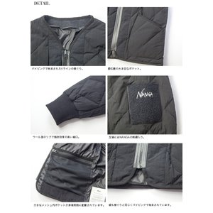 マニュアルアルファベット ナンガ MANUAL ALPHABET NANGA ダウンジャケット ノーカラー 日本製 メンズ|marcarrows|15