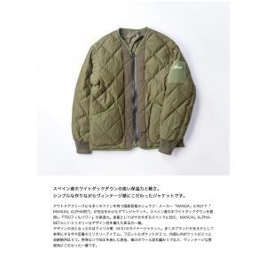 マニュアルアルファベット ナンガ MANUAL ALPHABET NANGA ダウンジャケット ノーカラー 日本製 メンズ|marcarrows|03
