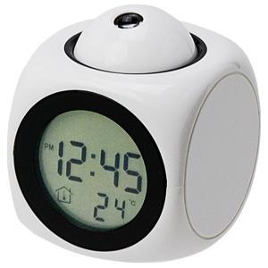 ファボリスタ 音声読み上げ & プロジェクター 表示 マルチ クロック 置き時計 ホワイト 48043 march-shop