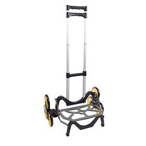 アップカート 3輪キャリーカート 段差・階段・カーブ・斜面・でこぼこ道にも対応 最大積載量45kg 高さ調整可 折り畳み可 アウトドア・レジャーにも便利|march-shop