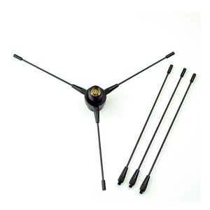 HYS VHF/UHF帯 両用 ラジアル エレメント モービル アンテナ M型接栓 銅製 アマチュア無線用 無線機用 マウント用|march-shop