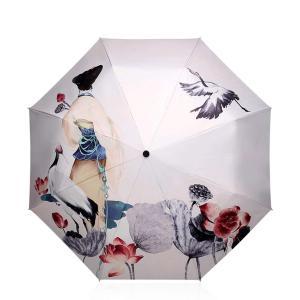 DORRISO 人気 折りたたみ傘 レディース 日傘 雨傘 軽量 8本骨 コンパクト 高強度グラスファイバー 耐風撥水 99%UVプロテクション 耐風撥水 晴雨兼用の画像