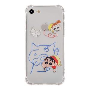 Jpan mart クレヨンしんちゃん お絵描き ソフト iphone7 iphone8ケース (お絵描き|march-shop