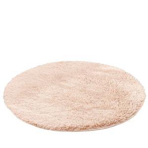 Kikon 洗える 円形 ラグマット カーペット オールシーズン シャギーラグ 絨毯 滑り止め付 丸型 冬用 夏用 防ダニ 抗菌 防臭 床暖房対応 (直径約120cm march-shop