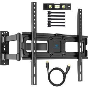 PERLESMITH テレビ壁掛け金具 32-55インチ対応 耐荷重35kg LCD LED 液晶テレビ用 上下左右前後可動 VESA400x400mm HDMIケーブル付き|march-shop