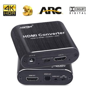 ADPOW HDMI音声分離器「HDMI入力→HDMI+Toslink/SPDIF+3.5mm音声出...