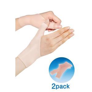 ShotR 手首・親指サポーター 手首 親指の固定に 腱鞘炎 母子CM関節症 水洗いOK 男女兼用 フリーサイズ 【2枚入り】|march-shop