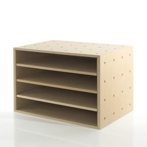 ラック 棚 木製 オフィス収納 A3のファイル棚 書類ラック 収納ボックス 木製 box おしゃれ|margherita