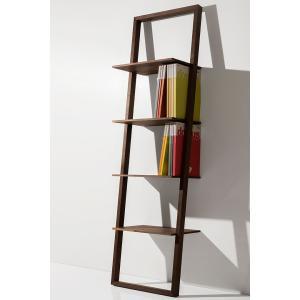 本棚 壁に立て掛ける ウォールラック ブックシェルフ ハイタイプ|margherita