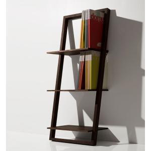 本棚 壁に立て掛ける ウォールラック ブックシェルフ ロータイプ|margherita