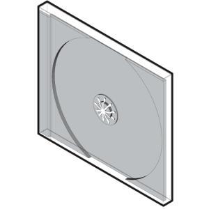 CDケース 1枚用 標準プラケース 100枚セット/CD-006-CD-007|margherita