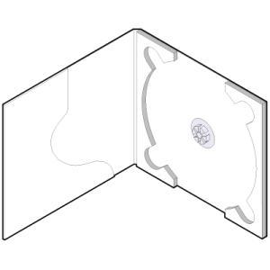 CD用 紙ケース ポケット付き(白)+OPP袋 50組セット/CD-030