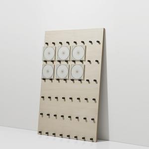CDラック おしゃれ 木製 飾る ディスプレイ展示 壁立てかけ ロータイプ|margherita