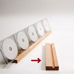 CDラック おしゃれ CDスタンド 木製/CDS-02|margherita