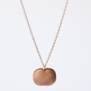 ネックレス ロング CHITOSE GRAIN S 一粒の小さなりんご ネックレス ロング 木村木品製作所|margherita