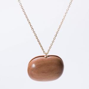 ネックレス ショート CHITOSE GRAIN L 一粒の大きなりんご ネックレス ショート 木村木品製作所|margherita