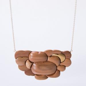 ネックレス ショート CHITOSE GRAINS 1 りんごたち ネックレス ショート 木村木品製作所|margherita