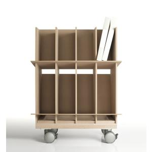 キャスター付きファイル棚 ファイルスタンド 可動本棚 家具 margherita