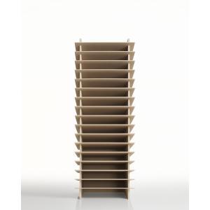 書類トレー A4 木製 多段式 トレイ オフィス棚|margherita