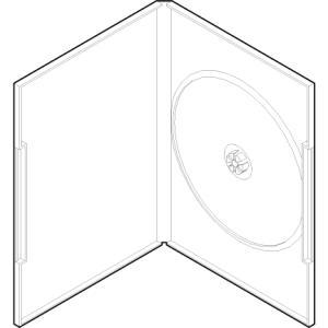 DVDケース 1枚用 アマレータイプ ディスク止め Mシステム プラケース 100枚セット/DVD-001|margherita