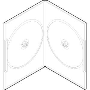 DVDケース 2枚用 アマレータイプ ディスク止め Mシステム プラケース 100枚セット/DVD-002|margherita
