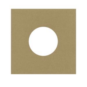 EPレコード用 厚紙ジャケット 両穴 クラフト茶 100枚セット/EP-006-KR margherita