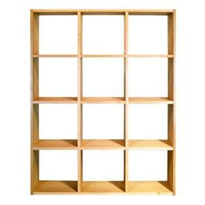 ブックシェルフ 本棚 H1340 メープル 国産 日本製 金具不使用 杉工場 木と風|margherita