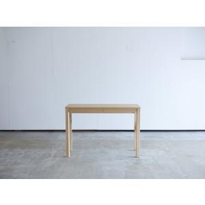 机 学習机 デスク 角脚 引き出し付き W1008 メープル コンソールデスク コンパクト 薄型 テーブル 机 無垢 国産 日本製 /杉工場 木と風|margherita