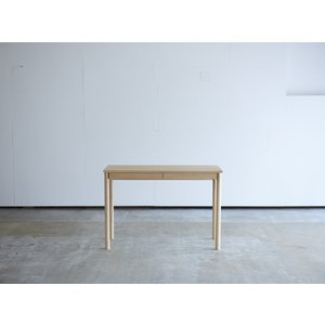 机 学習机 デスク 丸脚 引き出し付き W1008 メープル コンソールデスク コンパクト 薄型 テーブル 机 無垢 国産 日本製 /杉工場 木と風|margherita