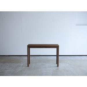机 学習机 デスク 丸脚 引き出し付き W1008 ウォールナット コンソールデスク コンパクト 薄型 テーブル 机 無垢 国産 日本製 /杉工場 木と風|margherita