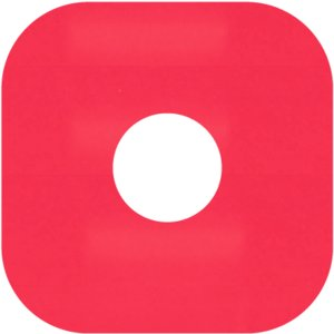 LPレコード用 インナージャケット 紙製 両穴 角丸 赤 100枚セット/LP-006-RD|margherita