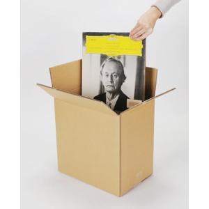 LPレコード収納 段ボール箱 50枚用 縦置き ダブルカートン 10箱セット/LP-027 二重ダンボール|margherita