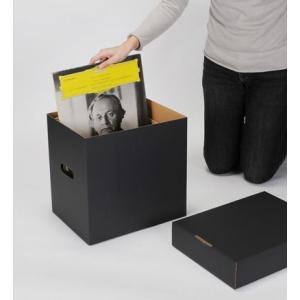LP用蓋付きBOXセット 黒 5箱セット/LP-030-BL|margherita