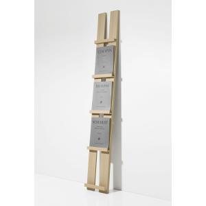 楽譜棚 木製 譜面を飾る ディスプレイ収納 見せる収納 高さ180cm 1列 収納数 5冊 margherita