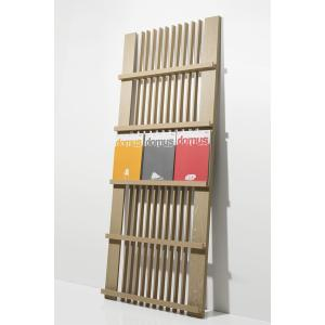 マガジンラック ディスプレイ ラック 木製 本棚 飾る おしゃれ 3列タイプ|margherita