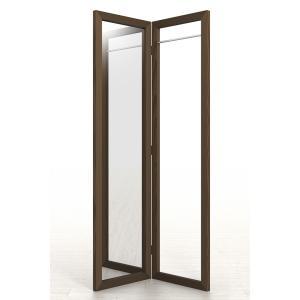 姿見鏡 おしゃれ ハンガーラック付き 1段タイプ 全身鏡 全身姿見鏡 ダークブラウン 180 大型 デザイン|margherita
