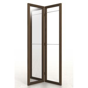 姿見鏡 おしゃれ ハンガーラック付き 2段タイプ 全身鏡 全身姿見鏡 ダークブラウン 180 大型 デザイン|margherita