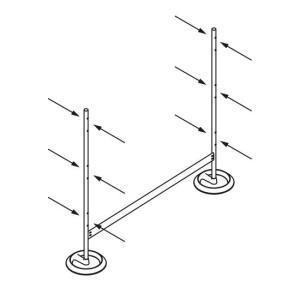 Caimi(カイミ) MITESCO パーティション吸音パネル・両面用ラウンドベース 3連タイプ/遠藤照明・AbitaStyle(アビタスタイル)|margherita