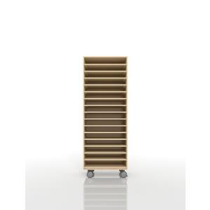 書類ラック A3 キャスター付き 木製 キャビネット(PNO-A3-16×1・BLC-12-BX×1) margherita