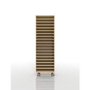 書類ラック A3 キャスター付き 木製 図面棚(PNO-A3-19×1・BLC-12-BX×1) margherita