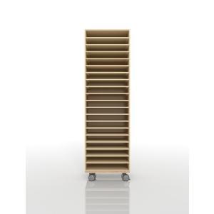 書類ラック A3 キャスター付き 木製 マップケース(PNO-A3-20×1・BLC-12-BX×1) margherita