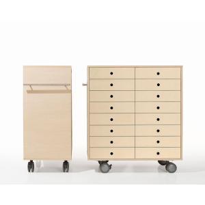 書類ラック A4 キャスター付き 引き出し収納 木製|margherita